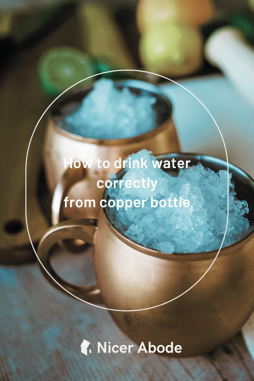 How to drink water correctly from copper bottle