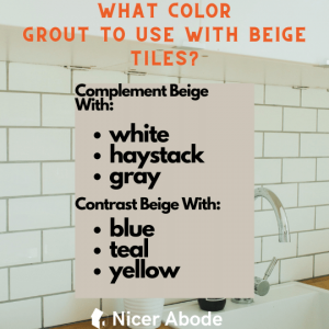 what color grout to use with beige tiles 1
